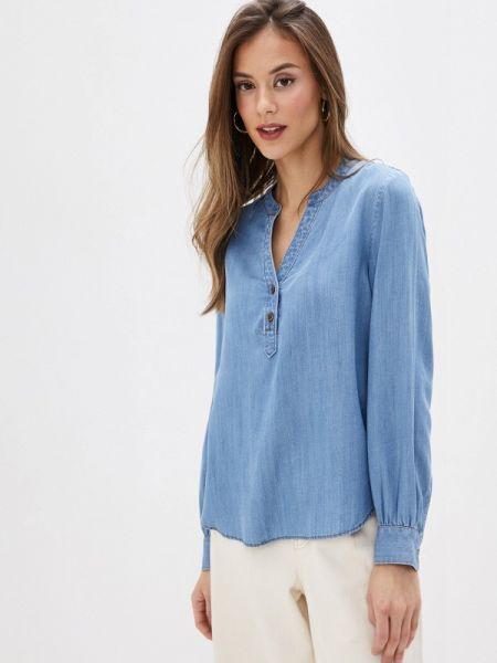 Синяя джинсовая рубашка с запахом Marks & Spencer