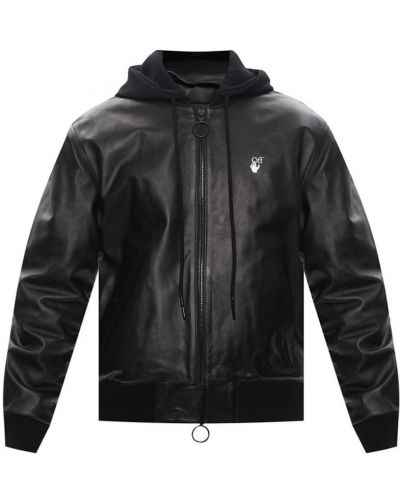 Czarna kurtka z kapturem Off-white