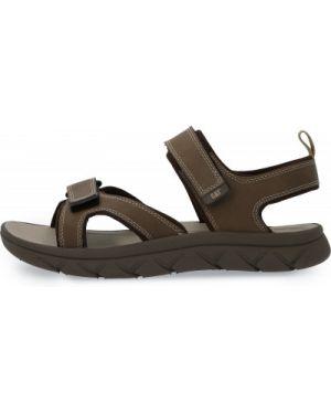 Коричневые спортивные кожаные сандалии Caterpillar