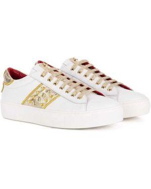 Белые кроссовки Cesare Paciotti Kids