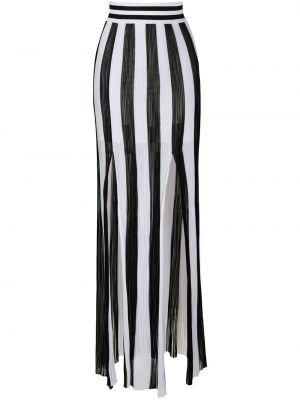 Трикотажная вязаная белая юбка Balmain