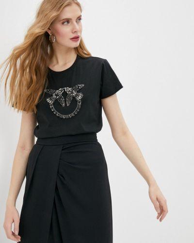 Черная футболка с короткими рукавами Pinko