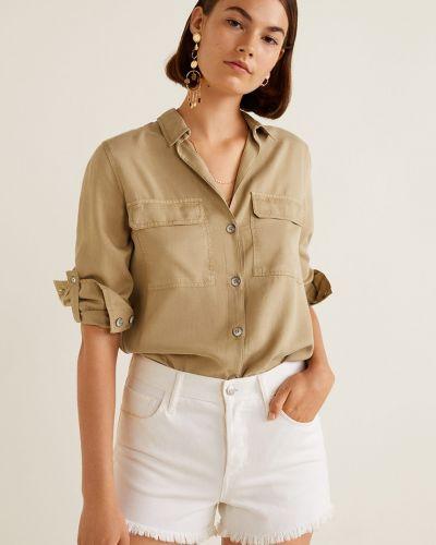 Блузка на пуговицах с воротником Mango