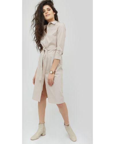 Платье-рубашка с поясом ниже колена Cardo