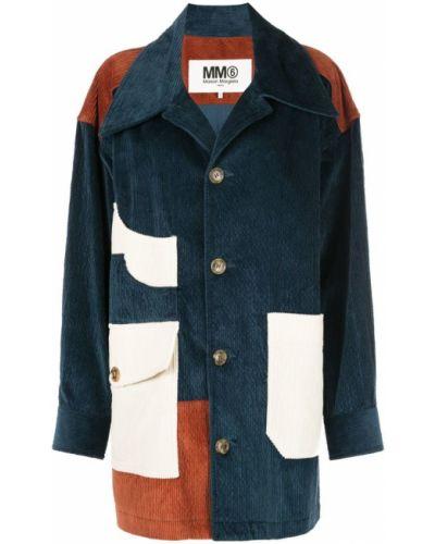 Пальто пэчворк на пуговицах Mm6 Maison Margiela