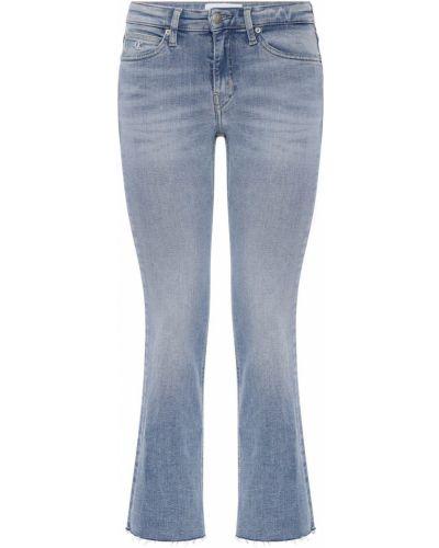 Джинсы на пуговицах с аппликацией Calvin Klein Jeans