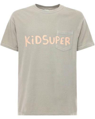 Beżowy t-shirt bawełniany Kidsuper Studios