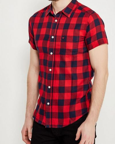 Красная рубашка с короткими рукавами Wrangler