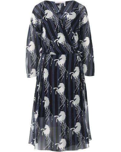 Платье миди с запахом шелковое Chloé