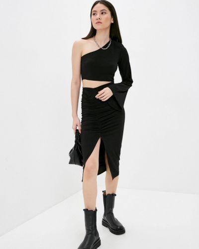 Черное вечернее платье Trendyol