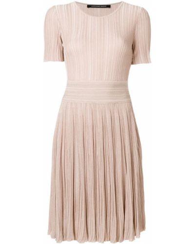 Платье мини солнце приталенное плиссированное Antonino Valenti