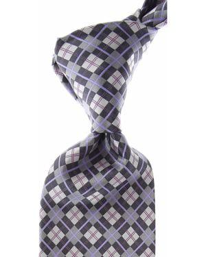 Szary krawat z jedwabiu Stefano Ricci