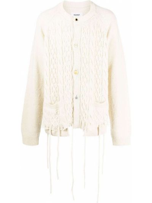 Biały sweter z akrylu Doublet