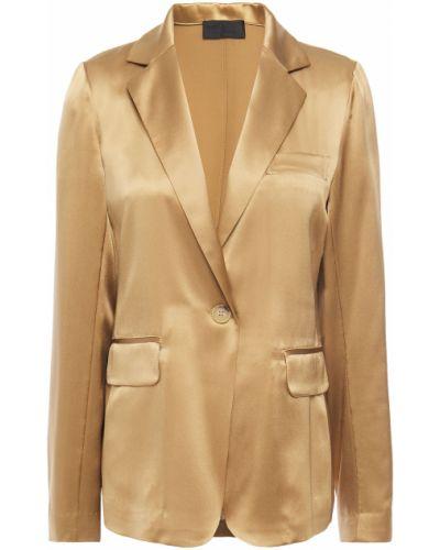 Шелковый пиджак с карманами на пуговицах Nili Lotan
