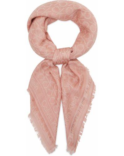 Szalik - różowy Calvin Klein