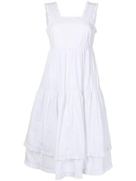 Белое платье а-силуэта Shrimps
