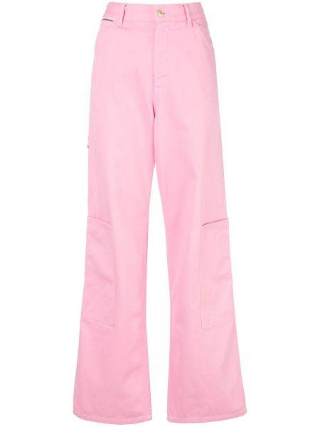 Брюки с завышенной талией розовый свободные Marc Jacobs