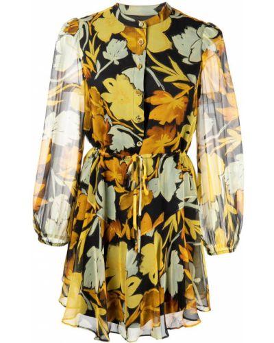 Żółta sukienka z długimi rękawami Milly