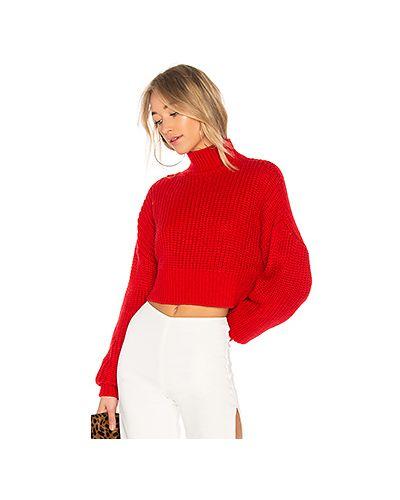 Красный свитер в полоску Lovers + Friends