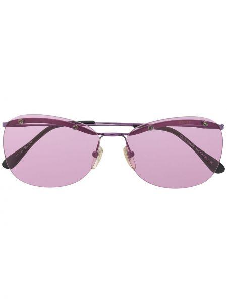 Фиолетовые солнцезащитные очки металлические Versace Pre-owned