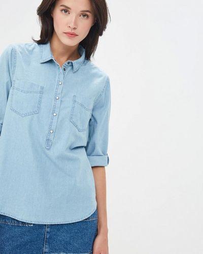 Джинсовая рубашка голубой в полоску Jacqueline De Yong