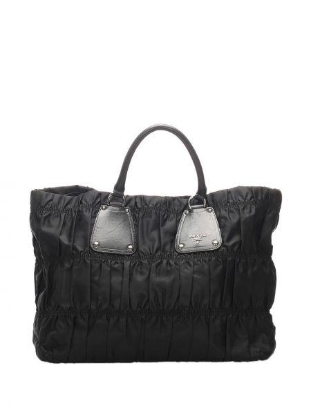 Черная нейлоновая сумка-тоут с подкладкой Prada Pre-owned