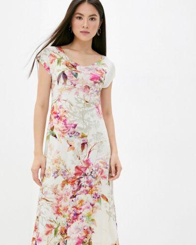 Повседневное бежевое платье Арт-Деко