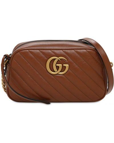 Кожаная маленькая сумка с подкладкой Gucci