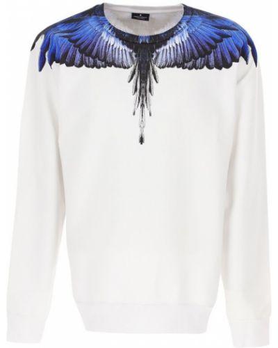 Biały długi sweter oversize na co dzień Marcelo Burlon