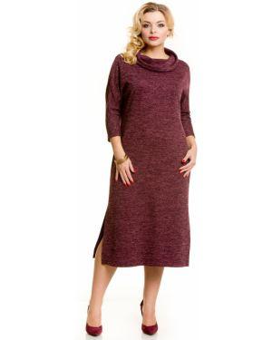 Платье миди повседневное с отложным воротником Novita