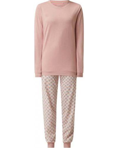 Różowa piżama z długimi rękawami Calida