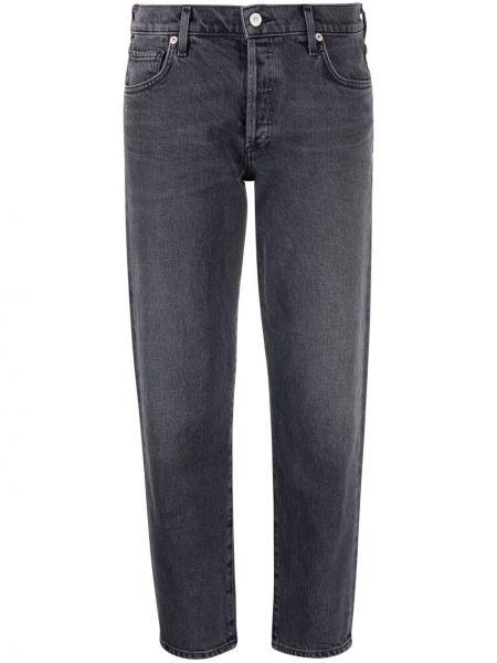 Хлопковые серые укороченные джинсы с карманами Citizens Of Humanity