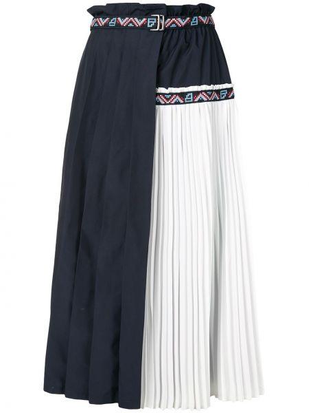 Плиссированная юбка миди с завышенной талией Bapy