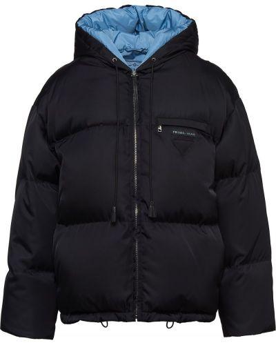 Длинная куртка - темно-синяя Prada