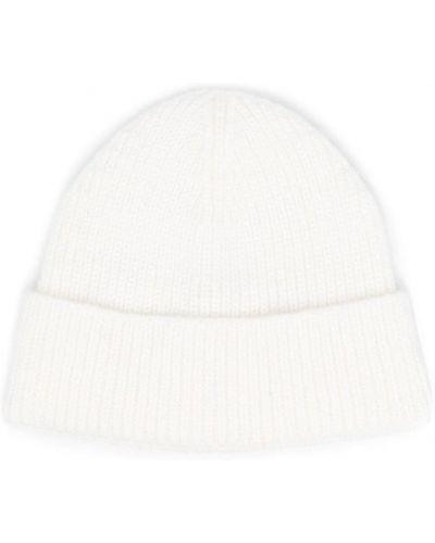 Biała czapka prążkowana Ami Paris