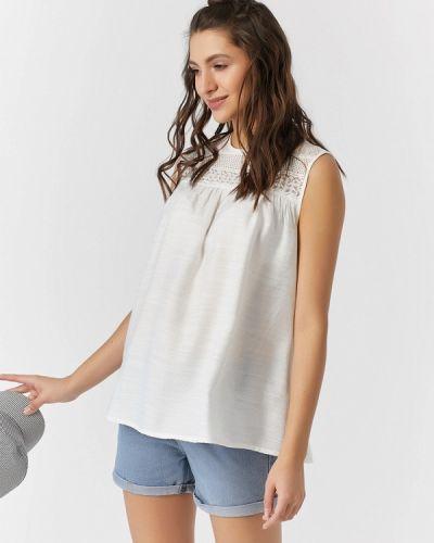 Блузка с открытыми плечами белая весенний Fly