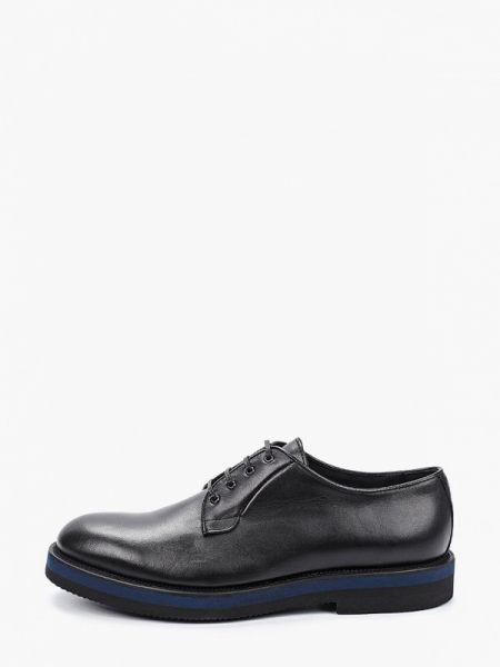 Кожаные черные туфли F.lli Rennella