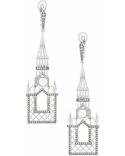 Серьги с жемчугом с топазом серебряные Axenoff Jewellery