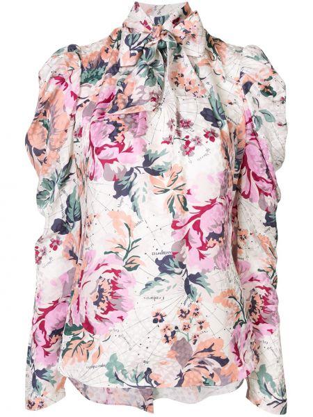 Шелковая с рукавами рубашка с бантом Ginger & Smart