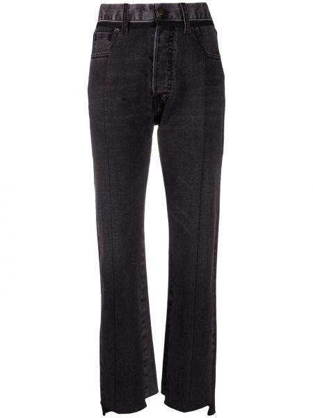 Ватные хлопковые черные джинсы классические с карманами Maison Margiela