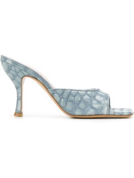Мюли на каблуке из крокодила Gia Couture