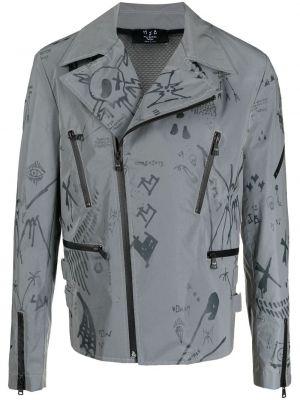 Długa kurtka bawełniana z długimi rękawami z printem Mjb Marc Jacques Burton