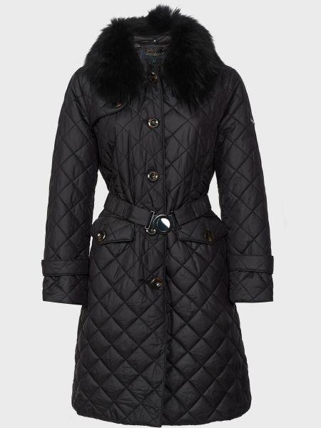 Куртка с мехом - черная Luisa Spagnoli