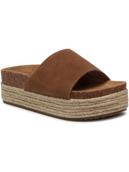 Brązowe sandały zamszowe Xti
