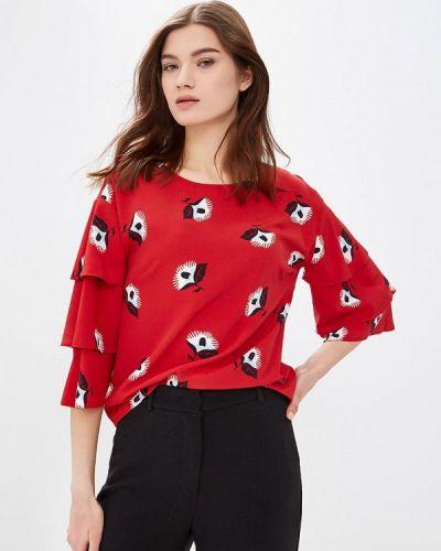 Блузка с длинным рукавом красная весенний Zarina