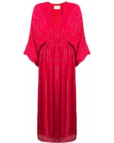 Платье миди свободного кроя с поясом с вырезом Sundress
