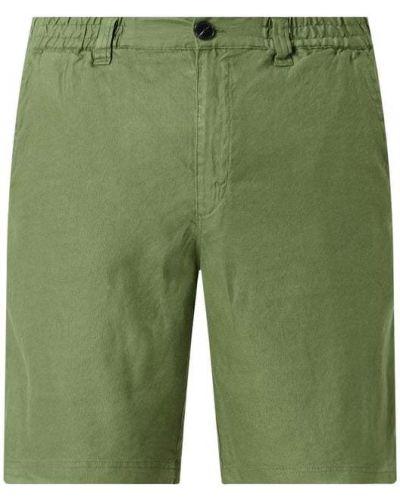 Zielone szorty bawełniane Anerkjendt