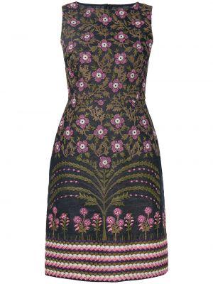 Прямое приталенное платье-футляр с вышивкой без рукавов Giambattista Valli