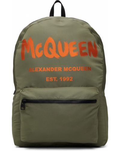 Plecak skórzany - czarny Alexander Mcqueen