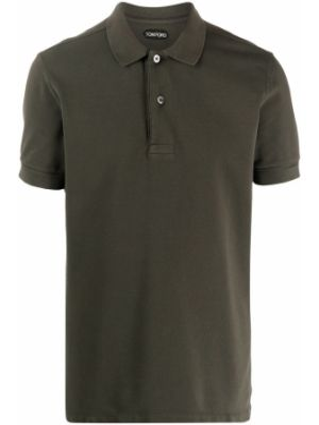 Koszula krótkie z krótkim rękawem klasyczna zielona Tom Ford